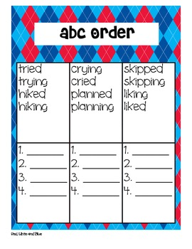 Red, White, and Blue Second Grade Reading Street Supplemental Materials
