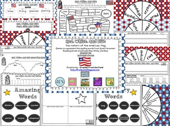 Red, White, and Blue Spelling and Vocabulary Games
