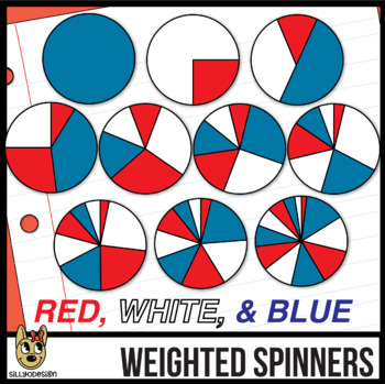 Red, White, and Blue Spinners