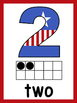 Red, White, and Blue Ten Frame Number Posters