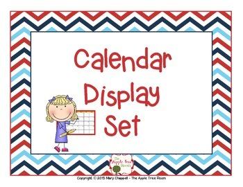 Calendar Set - Red, White and Blue