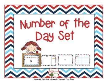 Number of the Day Set - Red, White and Blue