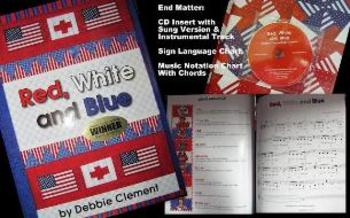 """""""Red, White and Blue"""" Traditional Hardback Picture Book (w"""