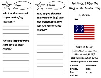 Red White and Blue Trifold - Reading Street 2nd Grade Unit 6 Week 2