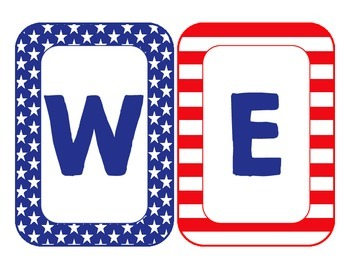Red, White and Blue Welcome Banner