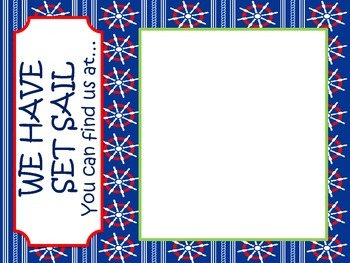 Red, White, and Navy Nautical We have Set Sail where we are sign