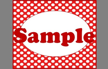 Red With White Polka Dot Labels