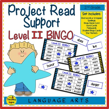 Project Read Support: Red Word Bingo Level II