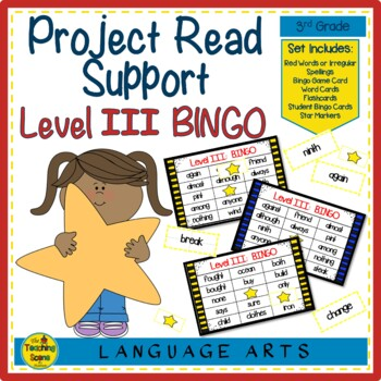 Project Read Support: Red Word Bingo Level III