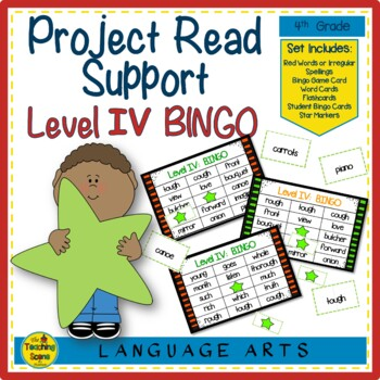 Project Read Support:  Red Word Bingo Level IV