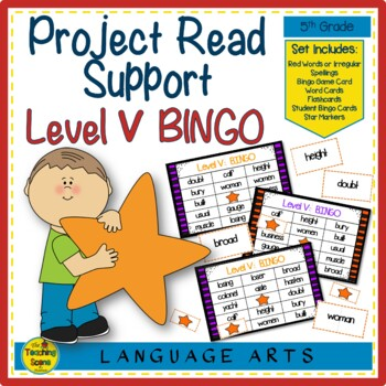 Project Read Support: Red Word Bingo Level V