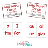 Red Word Cards Bundle - Layer 1 and 2