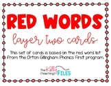 Red Word Cards - Layer Two