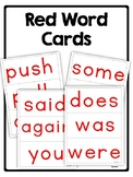 Red Word Cards