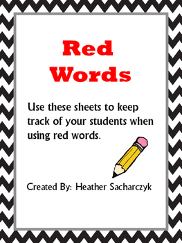 Red Word Data Sheet