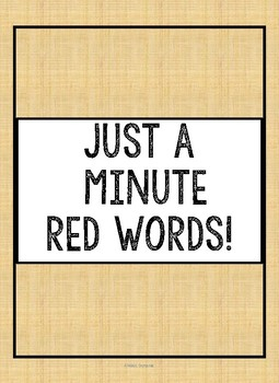 Red Word Fluency