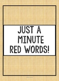 Red Word Fluency