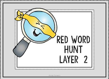 Layer 2 Red Word Hunt