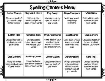 Red Word Level I: Center & Activity Menu with Worksheets