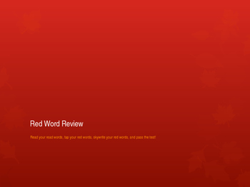 Red Word Rapid Reading Review