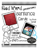 Red Word Sentence Cards - Fry's Second Hundred