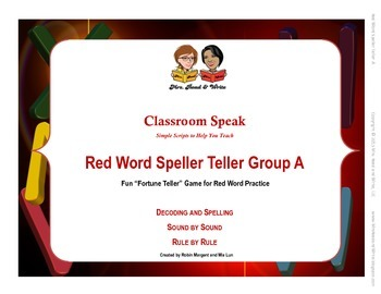 Red Word Speller Teller Group A--A Fun Game to Learn and Practice Red Words