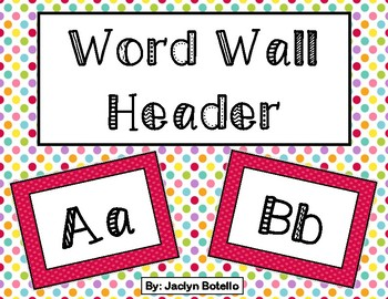 Red Word Wall Header