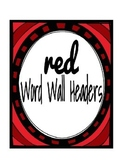Red Word Wall Headers
