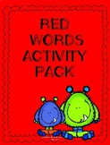 Red Words Activity Pack