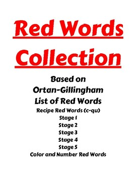 Red Words Collection- Ortan Gillingham