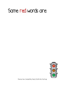 Red Words, Green Words and Red Actions, Green Actions Workbook
