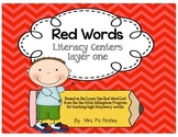 Red Words Layer One Literacy Centers