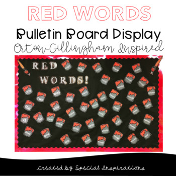 Red Words/Learned Words Bulletin Board Display!  Orton-Gillingham Approach