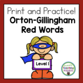 Orton-Gillingham Red Words Level 1