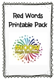 Red Words Pack
