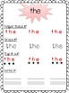 Red/Sight Words Spelling Review Pack-Volume 1