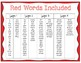Red Words - Roll, Read, and Write Activity