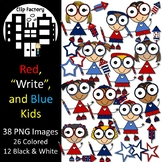 Red, Write, and Blue Kids