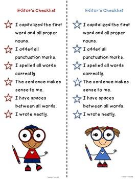 Red, Write, and Blue Revising Sentences