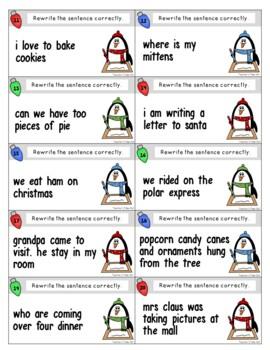 Holiday Revising Sentences