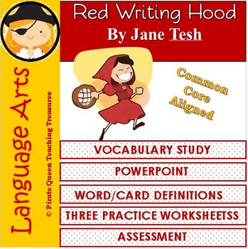 Red Writing Hood Vocabulary Activities/Common Core Aligned