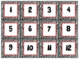 Red Zebra Calendar Cards