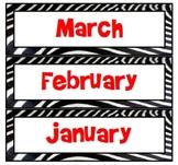 Red Zebra Calendar Months