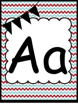 Red and Aqua Alphabet