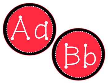 Red and Black Alphabet Classroom Display