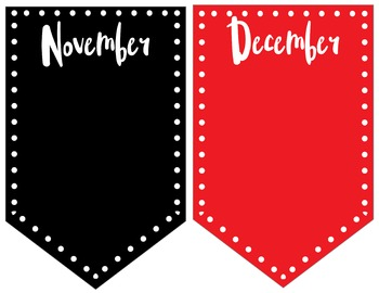 Red and Black Classroom Decor Pack