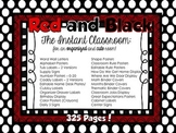Red and Black Classroom Decor - The Instant Classroom
