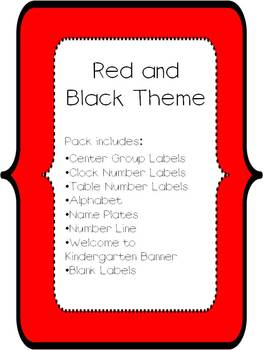 Red and Black Classroom Theme Materials