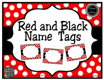 Red and Black Name Tags