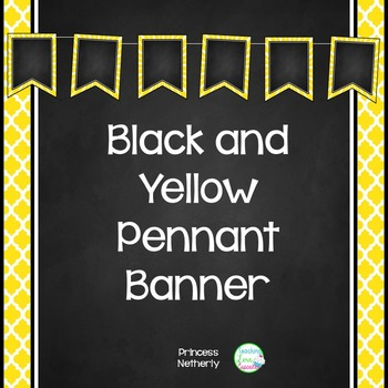 Black and Yellow Pennant Banner